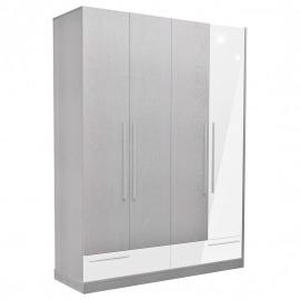 Dormitor Florena - Dulap 4 uși alb lucios