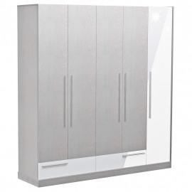 Dormitor Florena - Dulap 5 uși alb lucios