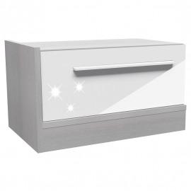 Dormitor Florena - Noptieră stg alb lucios