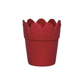 Ghiveci ceramic roșu H-15 cm