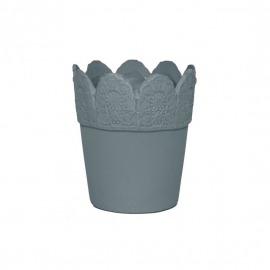 Ghiveci ceramic albastru H-15 cm