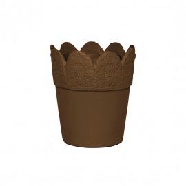 Ghiveci ceramic maro H-15 cm