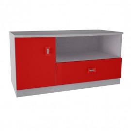 Sistem Pinochio - comodă TV roșu