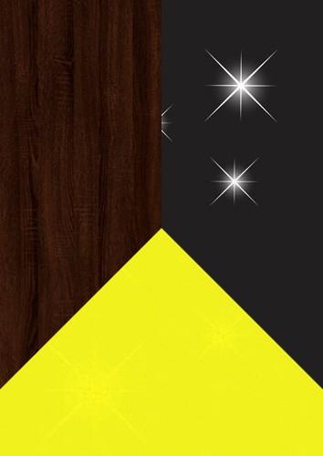 Stejar sonoma dark + negru lucios +Galben lucios
